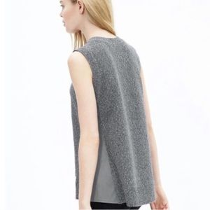Banana Republic Faux Leather Side Sweater Tank
